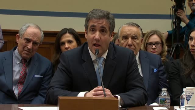 district of columbia delegate eleanor holmes norton asks former personal attorney to donald trump michael cohen at a house oversight and reform... - stormy daniels video bildbanksvideor och videomaterial från bakom kulisserna