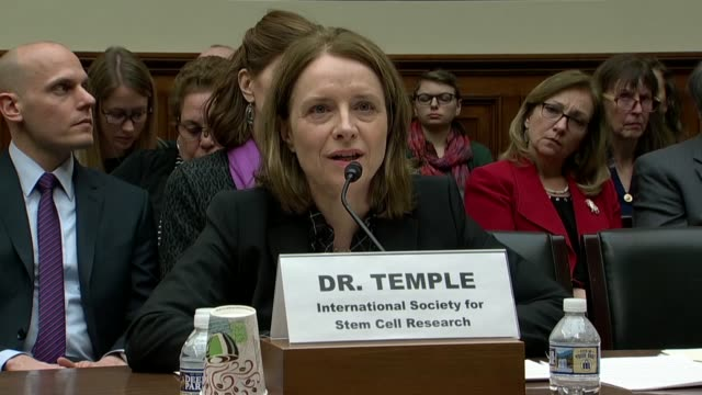 district of columbia delegate eleanor holmes norton engages international society for stem cell research board member sally temple testifies at a... - biological process stock videos and b-roll footage