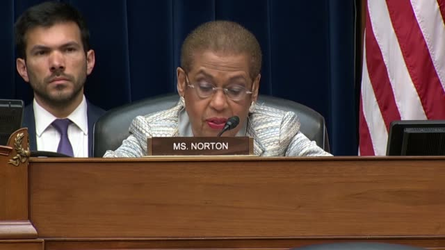 District of Columbia Delegate Eleanor Holmes Norton says at a House Oversight and Reform Committee hearing on migrant family separation that the...