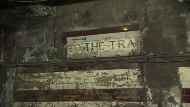 disused tube station where winston churchill secretly took refuge during the blitz is part of a number of hidden london underground sites set to be... - bunker struttura creata dall'uomo video stock e b–roll
