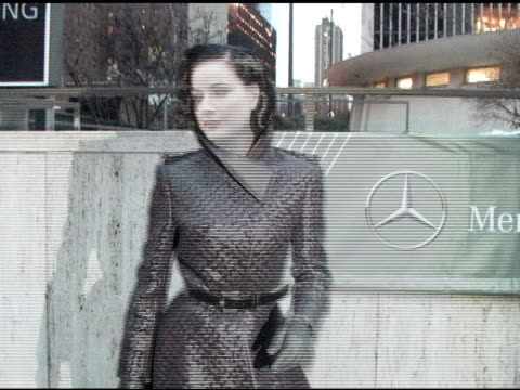 dita von teese arrives at the heart truth's red dress collection in new york city 02/09/11 at the celebrity sightings in new york at new york ny - dita von teese stock videos & royalty-free footage
