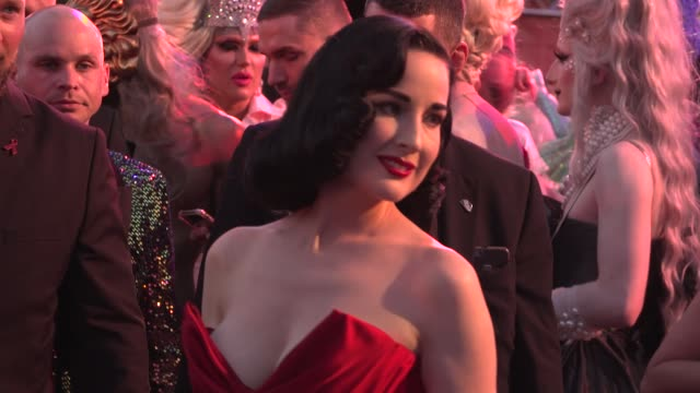 dita von teese arrives for the life ball 2019 at city hall on june 8 2019 in vienna austria - dita von teese stock videos & royalty-free footage
