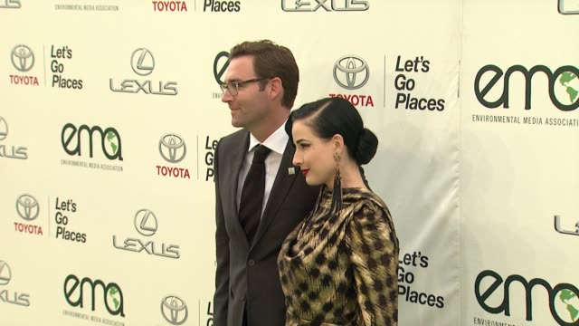 dita von teese at 25th annual environmental media awards in los angeles, ca 10/24/15 - environmental media awards stock videos & royalty-free footage