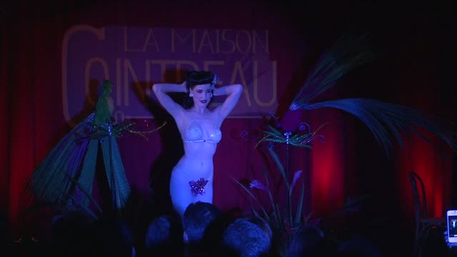dita von teese at la maison cointreau debuts in nyc with performance by dita von teese in newyork 10/15/12 - dita von teese stock videos & royalty-free footage