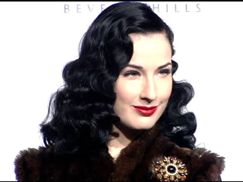 dita von teese at the dediction of the rodeo drive walk of style award to herb ritts and mario testino at rodeo drive in beverly hills california on... - dita von teese stock videos & royalty-free footage