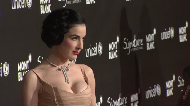 Dita Von Teese at the Montblanc Signature for Good Event In Association With UNICEF at Los Angeles CA