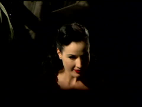 Dita Von Teese at the Olympus Fashion Week Fall 2006 Marc Jacobs Arrivals and Runway at New York State Armory in New York New York on February 6 2006