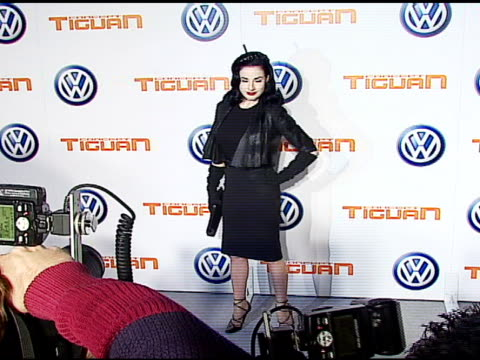 dita von teese at the us premiere of concept car tiguan presented by volkswagen at raleigh studios in hollywood california on november 28 2006 - dita von teese stock videos & royalty-free footage