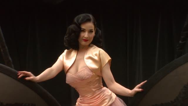 vídeos de stock, filmes e b-roll de dita von teese dita at the wonderbra reveals dita von teese at london - dita von teese