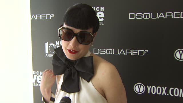 Dita Von Teese on being a part of the afternoon what she thinks of DSquared2's new canine couture line her dog how she named her dog her daily...