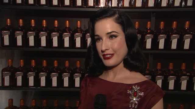 Dita Von Teese on going to San Francisco and the history of Cointreau at La Maison Cointreau Debuts In NYC With Performance By Dita Von Teese in...