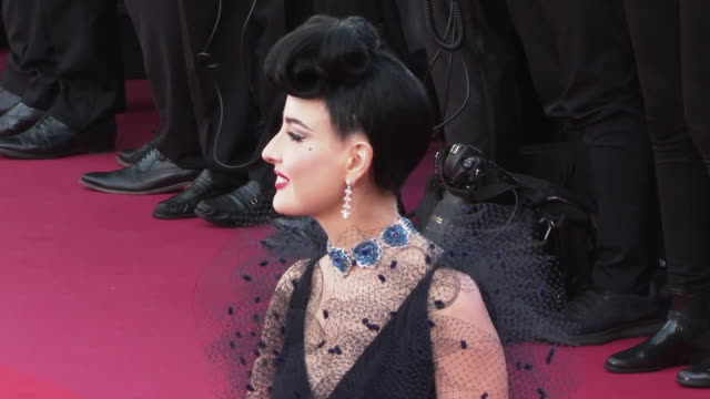Dita Von Teese on May 16 2019 in Cannes France