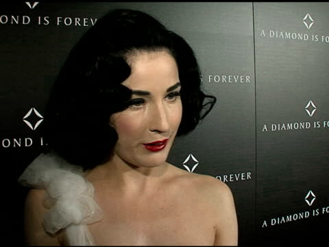 dita von teese on what she's wearing hollywood glamour what she appreciates about diamonds favorite memory while wearing diamonds and on how she... - dita von teese stock videos & royalty-free footage