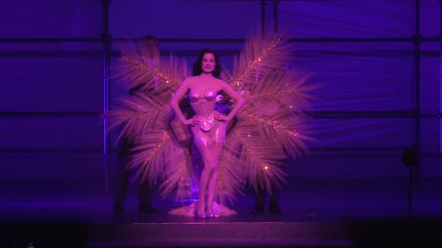 dita von teese strips on the runway for the philipp plein ready to wear spring summer 2018 fashion show in new york city saturday september 9 2017... - fashion show stock videos & royalty-free footage