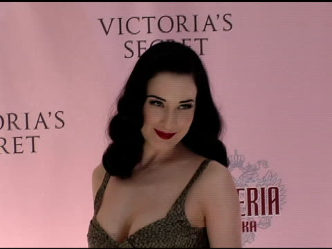 dita von tesse at the 10th victoria's secret fashion show arrivals at the armory in new york new york on november 9 2005 - waffenlager stock-videos und b-roll-filmmaterial