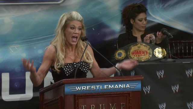 WWE Diva and Playboy Cover Girl Ashley on her match against Melina at Wrestlemania 23 at the Donald Trump and World Wrestling Entertainment News...