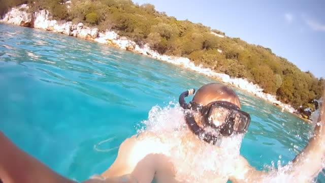 HD-ZEITLUPE: Diver Aufstellen der Oberfläche