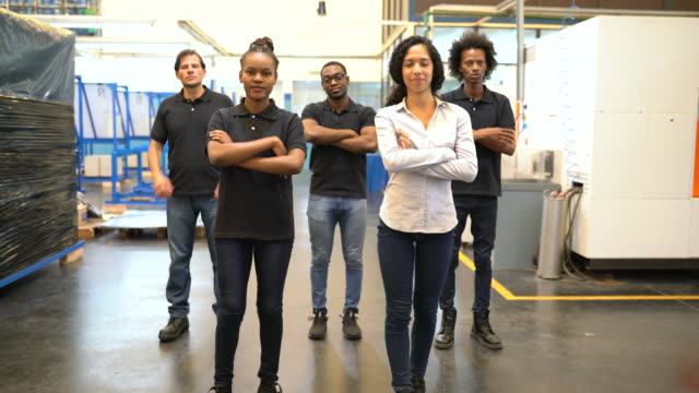 diverse group of factory employees - manufacturing occupation stock videos & royalty-free footage
