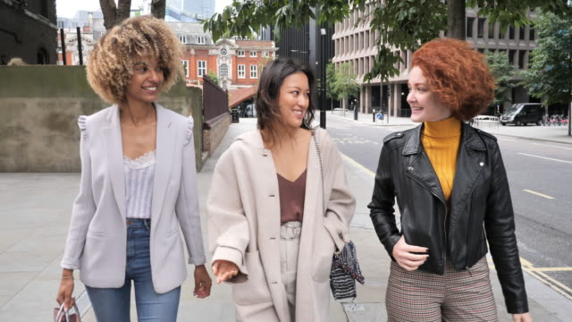 diverse millennials in london on empty street - fashion stock videos & royalty-free footage