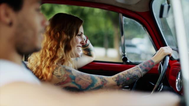 diversity: multiethnic stylish couple - tattoo stock videos & royalty-free footage