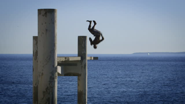 """diving and swimming on french riviera - """"bbc universal"""" stock videos & royalty-free footage"""