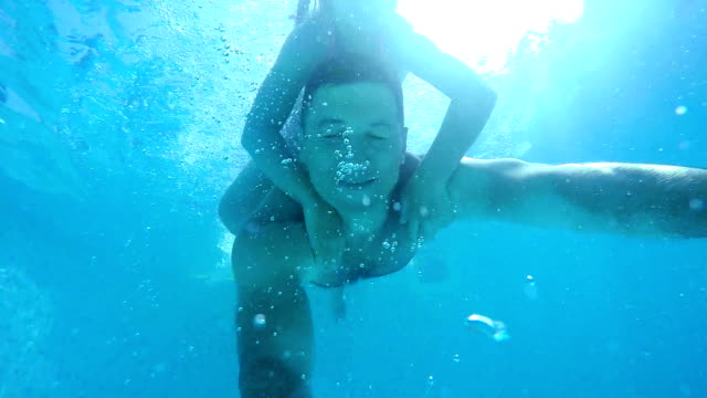 diving in the pool - underwater diving stock videos & royalty-free footage