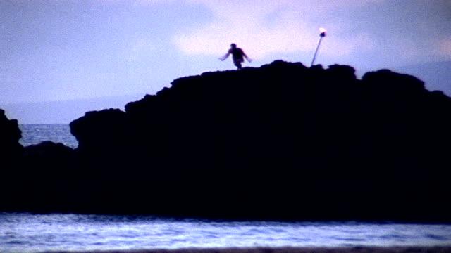 vídeos de stock, filmes e b-roll de mergulho no oceano-hd - tocha tiki
