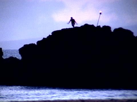 vídeos de stock, filmes e b-roll de mergulho no oceano-pal - tocha tiki