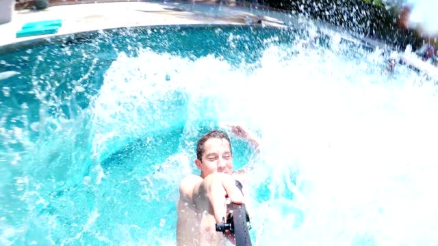 diving into water action cam - decking stock videos & royalty-free footage