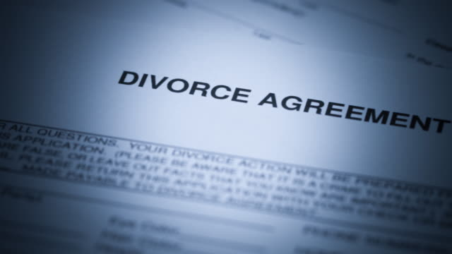 divorce documents - 4k - relationship breakup stock videos & royalty-free footage