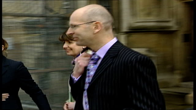 landmark rulings london court of appeal ext julia mcfarlane towards from court next james pirrie mcfarlane smiling as along pan james pirrie... - house husband stock videos & royalty-free footage