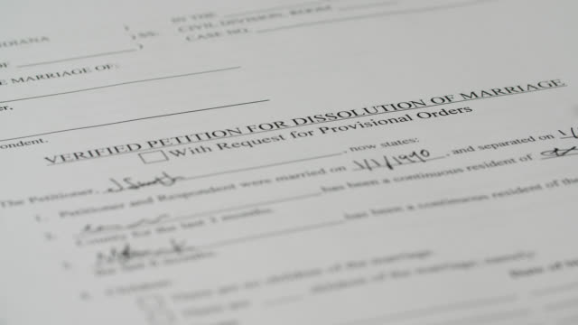 divorce paper filled out with pen - divorce stock videos & royalty-free footage