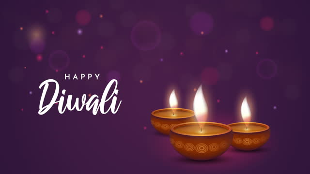 diwali background with burning lamps. 4k animation - lantern stock videos & royalty-free footage