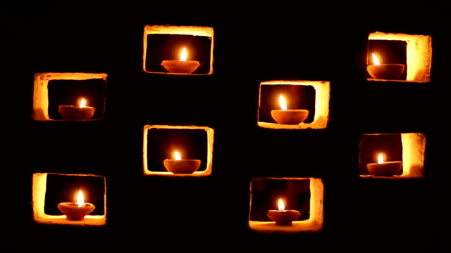 diwali candles - votive candle stock videos and b-roll footage