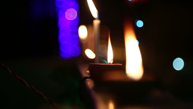 diwali celebration - electric lamp stock videos & royalty-free footage