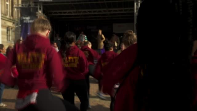 diwali celebrations in birmingham city centre - hinduism stock videos & royalty-free footage