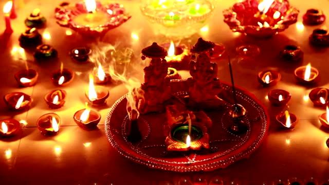 diwali festival - goddess stock videos and b-roll footage