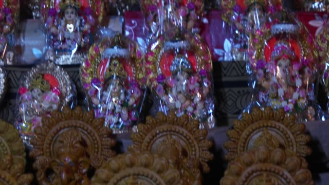 diwali is an ancient hindu festival and one of the largest and brightest festivals in india / diwali marks a major shopping period in india and in... - goddess stock videos and b-roll footage