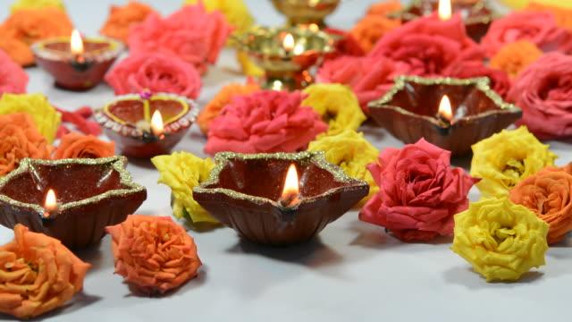 diwali light decoration - chennai stock videos & royalty-free footage