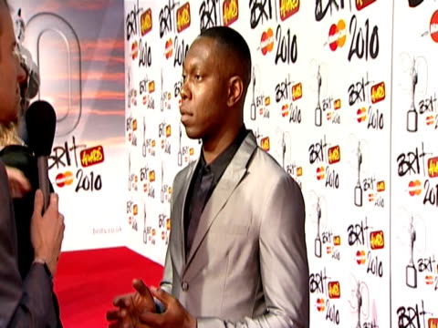 Dizzee Rascal at the The Brit Awards 2010 at London England