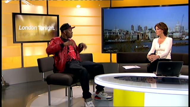 dizzee rascal to perform at concert ahead of olympic games opening ceremony england london gir int dizzee rascal studio interview sot bigger the show... - アルバムのタイトル点の映像素材/bロール