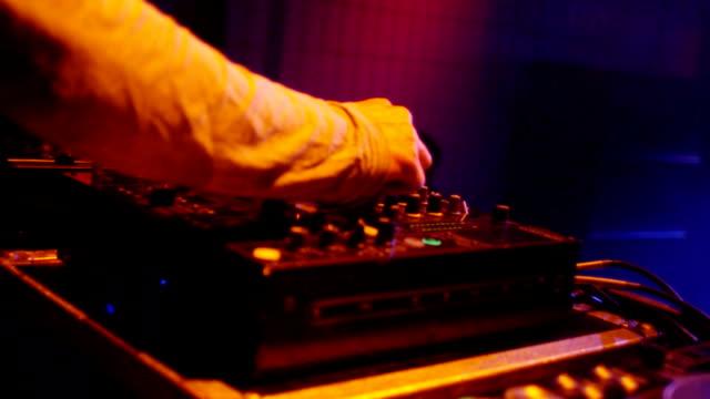 dj at mixer - club dj stock videos & royalty-free footage