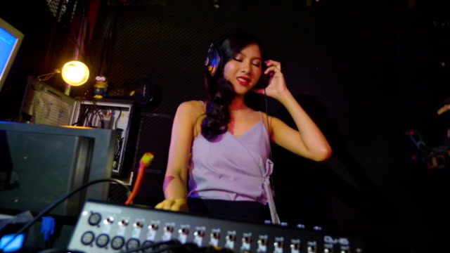 dj girl - arts culture and entertainment stock videos & royalty-free footage