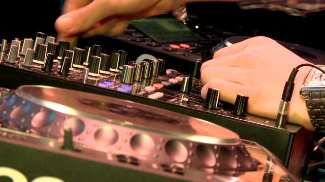dj work in a nightclub - cd rom stock videos & royalty-free footage