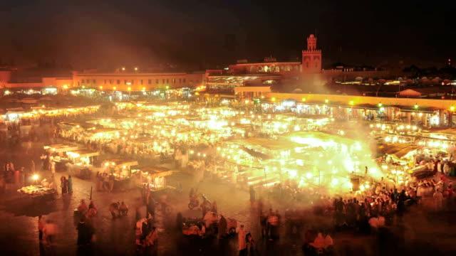 Djemaa El Fna time lapse, Marrakech, Morocco