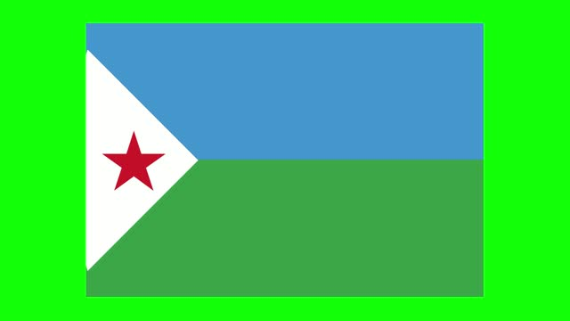 djibouti flag animation on green screen background, chroma key, loopable - horn of africa stock videos & royalty-free footage