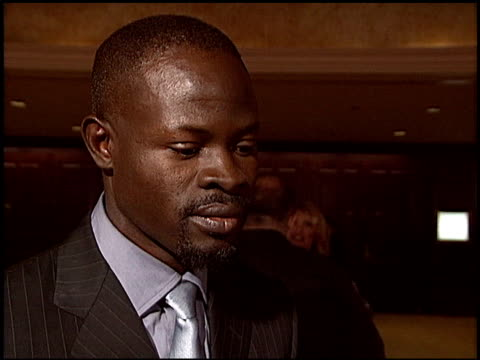 djimon hounsou at the 2004 writers guild awards at the century plaza hotel in century city, california on february 21, 2004. - century plaza stock videos & royalty-free footage
