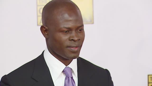 Djimon Hounsou at the Broadcast Film Critics Association's 2007 Critic's Choice Awards at Santa Monica Civic Auditorium in Santa Monica California on...
