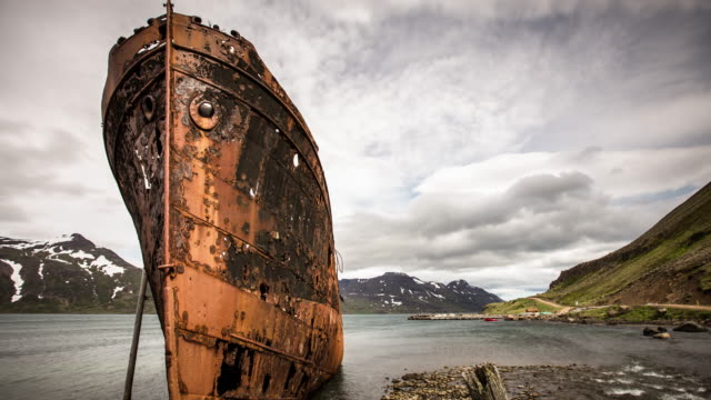 Djupavik Shipwreck, Iceland - Time Lapse