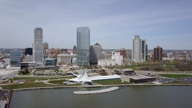 D-Log: Milwaukee Skyline Aerial Footage
